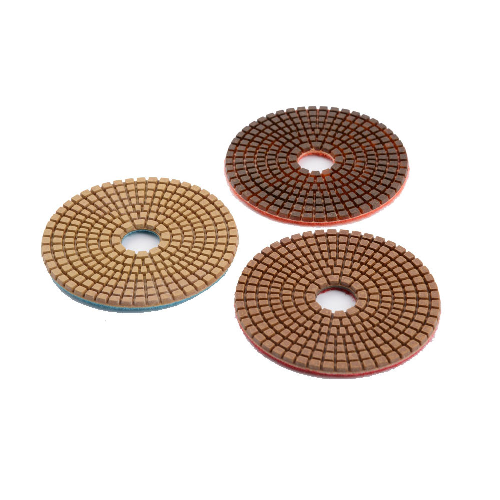 Three-step wet granite polishing pads 2